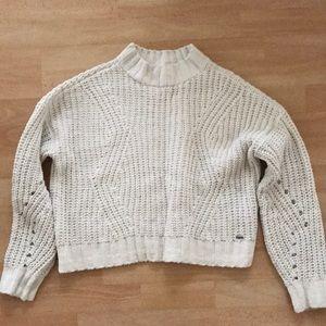 Mockneck White Sweater